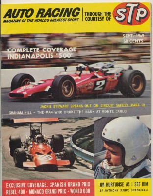 September 1969 Auto Racing Magazine - Indy 500 Cover Feature